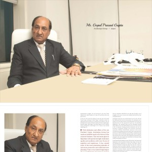 Zee Coffee Table book of our Chairman Sir, Mr. Gopal Prasad Gupta